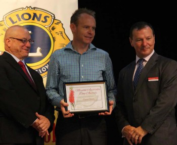 David Gowdie proudly receiving the Moreton electorate's Australia Day Award.