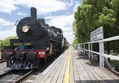 The train pulls into Grandchester (formerly known as Bigge's Camp)